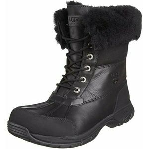 UGG Boots Butte Black Winter Snow Leather